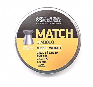 Diablo JSB Match Middle Weight 4,5mm 0,520g 500 ks - 1