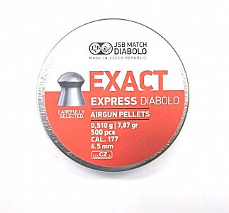 Diabolo JSB Exact Express 4,5mm 0,510g 500 ks - 1