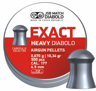 Diabolo JSB Exact Heavy 4,5mm 0,670g 500 ks - 1