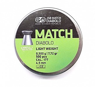 Diabolo JSB Match Light Weight 4,5mm 0,500g 500 ks - 1