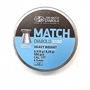 Diabolo JSB Match S100 4,5mm 0,535g 500 ks - 1