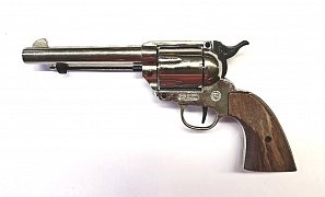 Plynový revolver BRUNI Single Action 6RD 380 nikl (PEACEMAKER)